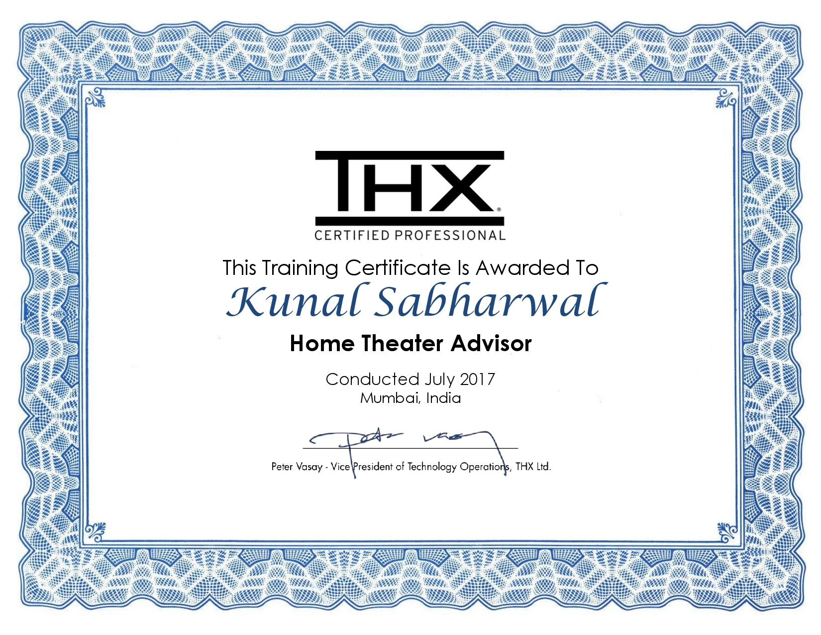 Thx Certification Images Certificate Design Template Free